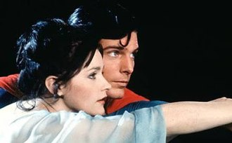 Superman and Lois Lane - Lois Lane (Margot Kidder) and Superman (Christopher Reeve) in the 1978 film Superman