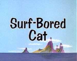 Surf-Bored Cat - Title Card