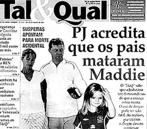 Tal & Qual - The article that was the subject of the McCann's legal action