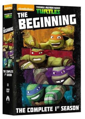 """Teenage Mutant Ninja Turtles (2012 TV series, season 1) - DVD cover for """"Teenage Mutant Ninja Turtles"""" Season 1."""
