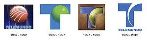 Telemundo - Historic Telemundo logos.