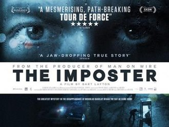 The Imposter (2012 film) - Image: The Imposter 2012Poster