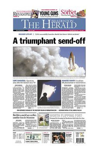 The Bradenton Herald - The July 27, 2005 front page of The Bradenton Herald
