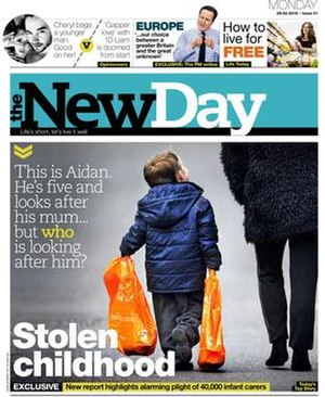 The New Day (newspaper) - Front page of the first edition of The New Day