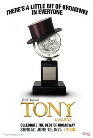 61st Tony Awards - Official poster for the 61st annual Tony Awards