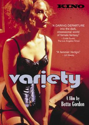Variety (1983 film) - box cover art for Variety (Bette Gordon, 1983)