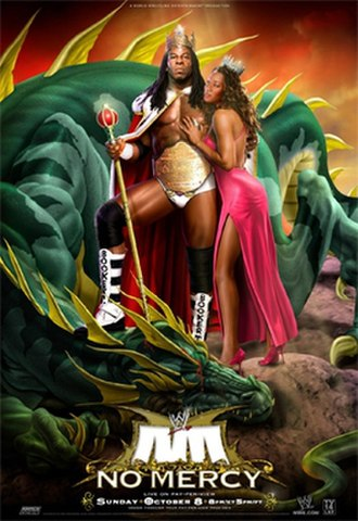 No Mercy (2006) - Promotional poster featuring King Booker and Queen Sharmell