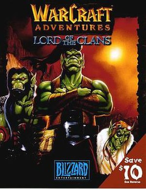 Warcraft Adventures: Lord of the Clans - Image: Warcraft adventures boxart