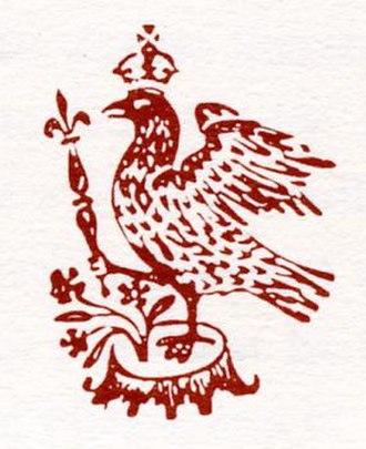 Elizabethan Club - The falcon motif of Yale's Elizabethan Club, from a badge of Queen Elizabeth I