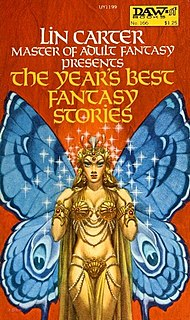 <i>The Years Best Fantasy Stories</i> book by Lin Carter