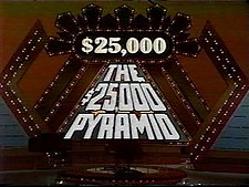 Title card to the 1980s version of The $25,000 Pyramid (later known as The New $25,000 Pyramid)