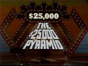 Title card of the 1980s $25,000 Pyramid.