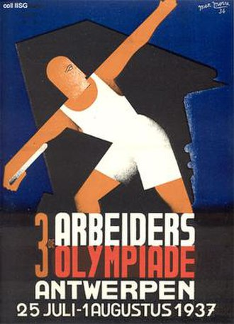 1937 Workers' Summer Olympiad - Image: 1937 Workers' Summer Olympiad poster