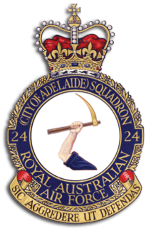 No. 24 Squadron RAAF - Official crest of No. 24 Squadron