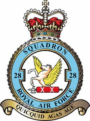 No. 28 Squadron RAF - 28 Squadron badge