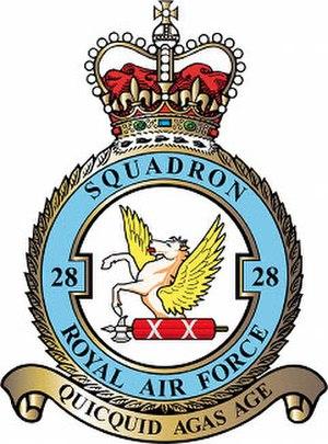 No. 28 Squadron RAF - 28 Squadron badge