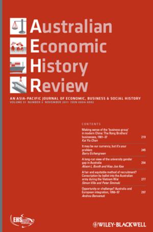 Australian Economic History Review - Image: Australian Economic History Review cover image