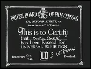 British Board of Film Classification - Image: BBFC Cert
