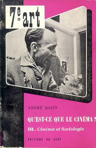 André Bazin - André Bazin on the cover of the third volume of the original edition of Qu'est-ce que le cinéma?