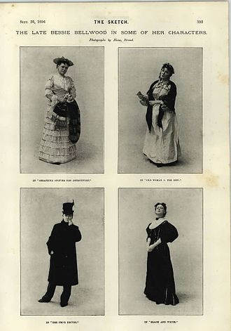 Bessie Bellwood - Bessie Bellwood in some of her characters - The Sketch 30 September 1896