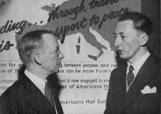 "Birger Nordholm - Birger Nordholm and Arthur Haulot under the slogan ""Understanding through travel"