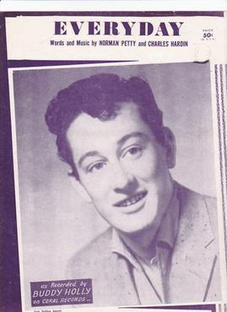 Everyday (Buddy Holly song) - 1957 sheet music cover, Southern Music Publishing, New York