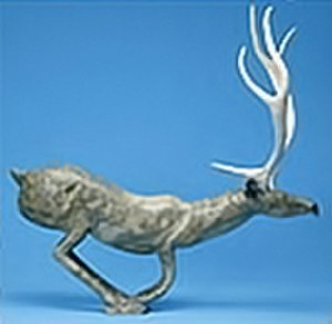 Inuit art - Caribou in soapstone by Osuitok Ipeelee, Dennos Museum Center