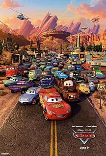 <i>Cars</i> (film) 2006 American computer-animated comedy film produced by Pixar