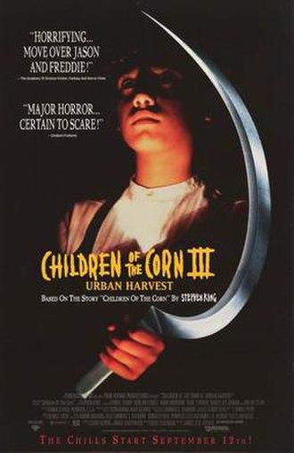 Children of the Corn III: Urban Harvest - Promotional poster