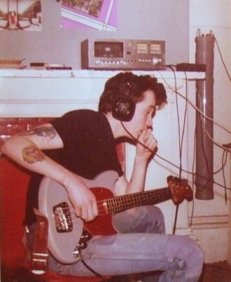 Blitzkrieg (English punk band) - Chris Hind in the early 1980s