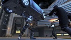 Crackdown - In Crackdown, the Agent can use many super-human powers, including enhanced strength, to defeat his enemies.