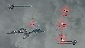 Drakengard 3 - Image: DG3 aerial gameplay