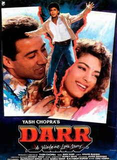 <i>Darr</i> 1993 Hindi-language film directed by Yash Chopra
