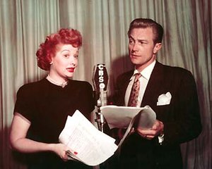 Lucille Ball and Richard Denning performing an...