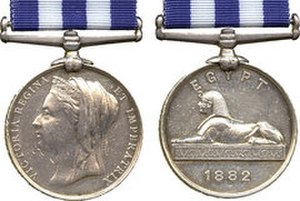 Sydney Eardley-Wilmot - The Egypt Medal (first version and without the Suakin clasp).