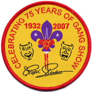 Gang Show - Woven badge issued to commemorate the 75th Anniversary of Gang Show productions