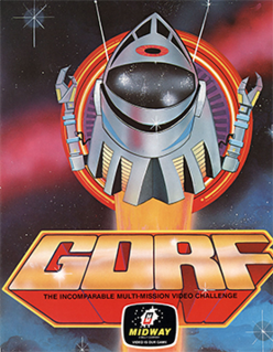 <i>Gorf</i> Fixed shooter video game first released in 1981