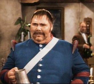Zorro (1957 TV series) - Henry Calvin as Sergeant García, with Gene Sheldon as Bernardo in the background