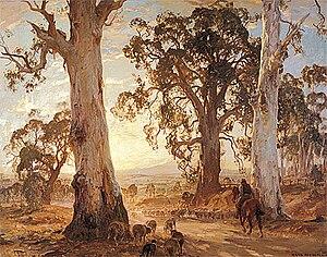 Hans Heysen - Droving into the Light, 1914-21, Art Gallery of South Australia