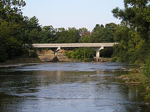 Huron River (Ohio) - Huber Road bridge in Oxford Township; it, too, was built after the July 5, 1969 flood washed the other bridge away
