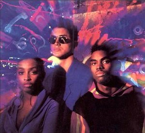 Mantronix - Final Mantronix line-up (1991):  (l-r) Jade Trini, Kurtis Mantronik, Bryce Wilson