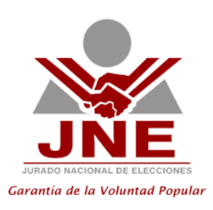 National Jury of Elections - JNE logo with its motto: Garantía de la voluntad popular (Guarantee of the people's will).