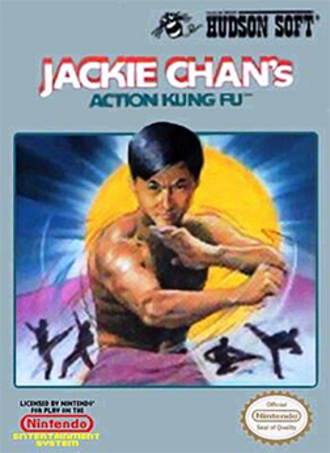 Jackie Chan's Action Kung Fu - North American front cover of the NES version.