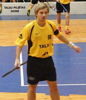 Jānis Jansons Latvian floorball player