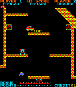 Platform game - Jump Bug (1981) introduced scrolling to the genre.