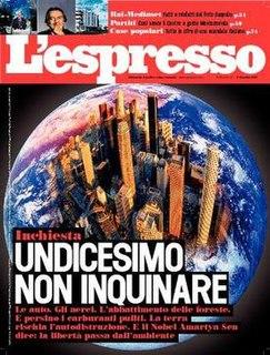 <i>LEspresso</i> Weekly Italian magazine