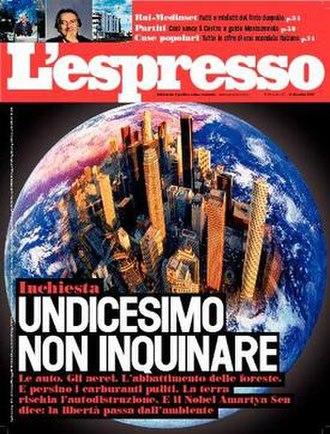 L'espresso - Image: L'espresso frontpage