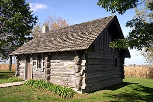 Little House replica at the Little House Wayside