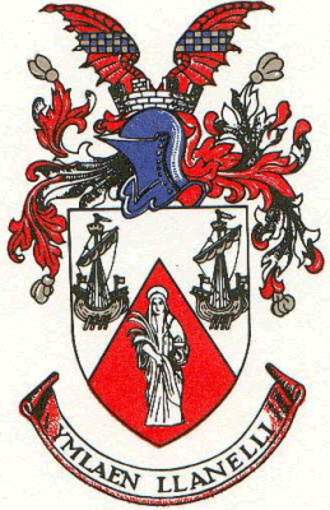 District of Llanelli - Arms of Llanelli Borough Council