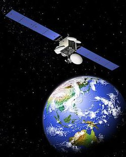 Image of MEASAT-3 orbiting over Malaysia